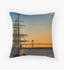 Newport Harbor Sunset Throw Pillow