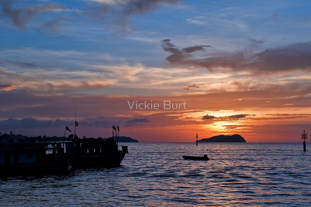 Kinabalu Sunset by Vickie Burt