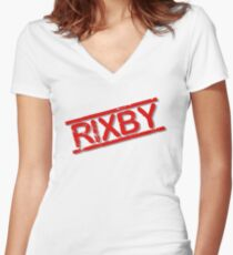 RIXBY Women's Fitted V-Neck T-Shirt