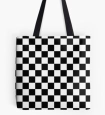 Bolsa de tela Blanco y negro Check Checkered Flag Motorsports Race Day + Ajedrez