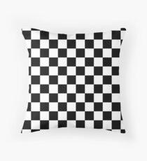 Schwarz-Weiß-Check Checkered Flag Motorsport-Renntag + Schach Dekokissen