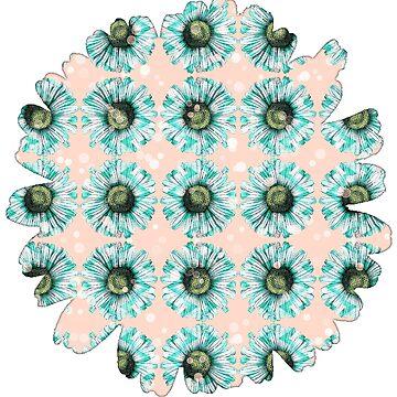 Pfirsichblüte von Mint Flowers Kawaii Blumenart Design 2 von Saburkitty