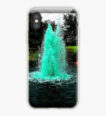 Blue/Green Fountain at a Houston Park iPhone Case