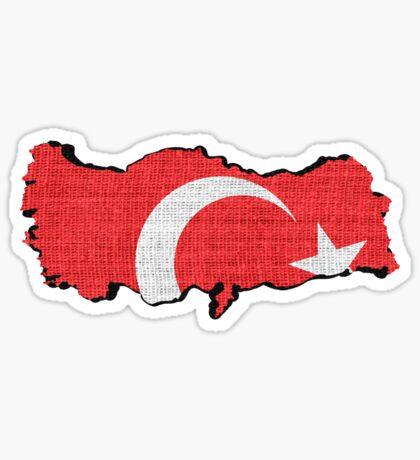 Turkey flag map Sticker