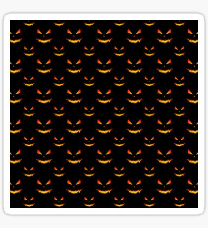 Cool and scary Jack O'Lantern face Halloween pattern Sticker