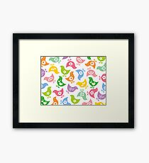 Retro Rainbow Chicks Framed Print