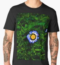 Little Blue and White Daisy in the Green Grass Men's Premium T-Shirt
