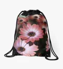 African Daisy Zion Red Drawstring Bag
