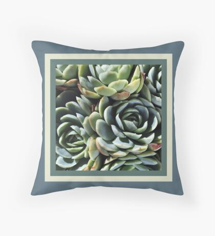 World Of The Succulent Throw Pillow