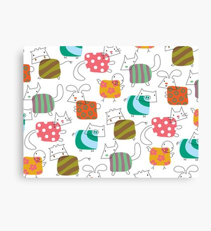 Baby Moo! Oink! Cheep! Meow! Woof! Thump! Canvas Print