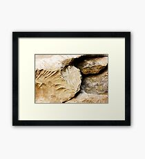 Stone texture, natural background Framed Print