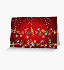 Sparkling Mini X'mas Tree Lights Greeting Card