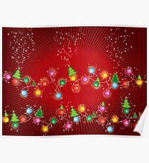 Sparkling Mini X'mas Tree Lights Poster