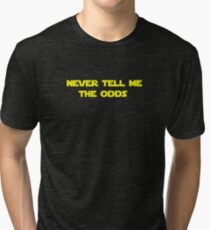 Star Wars Han Solo - Never Tell Me The Odds Tri-blend T-Shirt