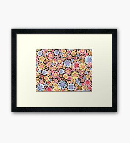 Pastel Snow Flowers Framed Print