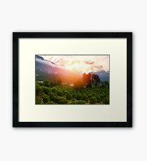 Awesome mountain landscape Framed Print