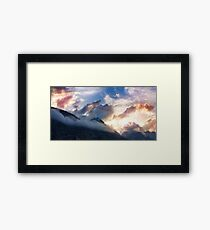 Breathtaking awesome mountain landscape Framed Print