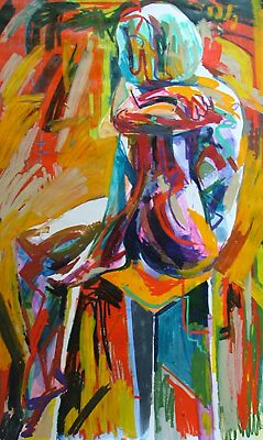 One Arm Round Leg Abstract by Josh Bowe