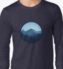 Snowy Mountain - Landscape Long Sleeve T-Shirt