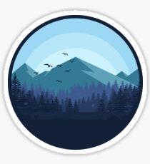 Snowy Mountain - Landscape Sticker