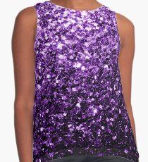 Beautiful Dark Purple glitter sparkles Sleeveless Top