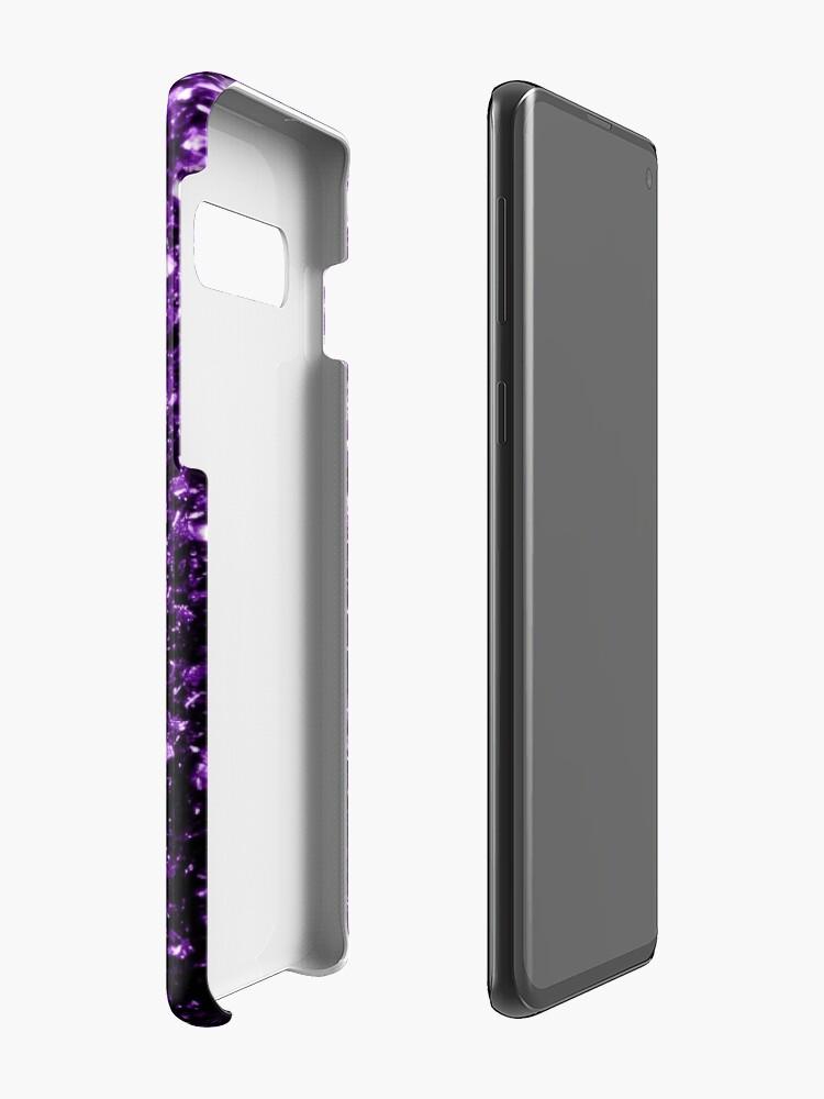 Alternate view of Beautiful Dark Purple glitter sparkles Case & Skin for Samsung Galaxy