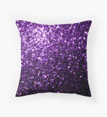 Wunderschöne Dark Purple Glitter funkelt Dekokissen