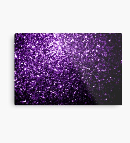 Beautiful Dark Purple glitter sparkles Metal Print