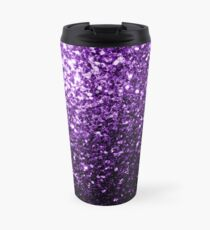 Beautiful Dark Purple glitter sparkles Travel Mug