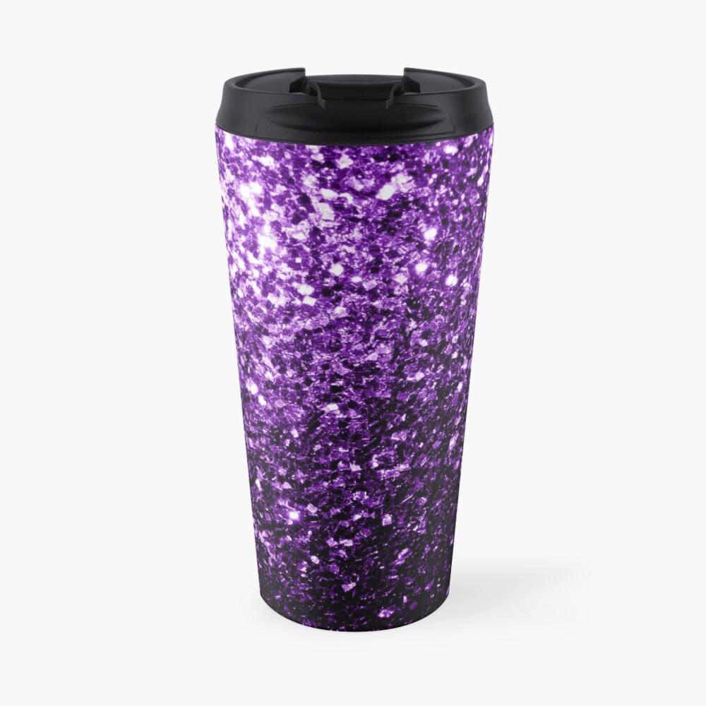 Beautiful Dark Purple glitter sparkles Travel Mug