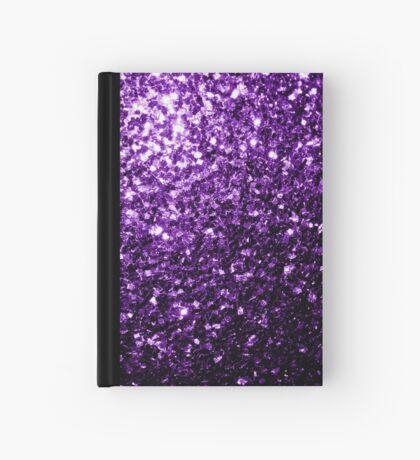 Beautiful Dark Purple glitter sparkles Hardcover Journal