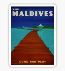 Maldives Tropical Paradise Sticker