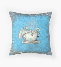 Tea Cup Dragons: Peppermint 2 Throw Pillow