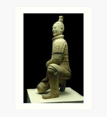 Full figure Archer of the Terracotta Soldiers Art Print