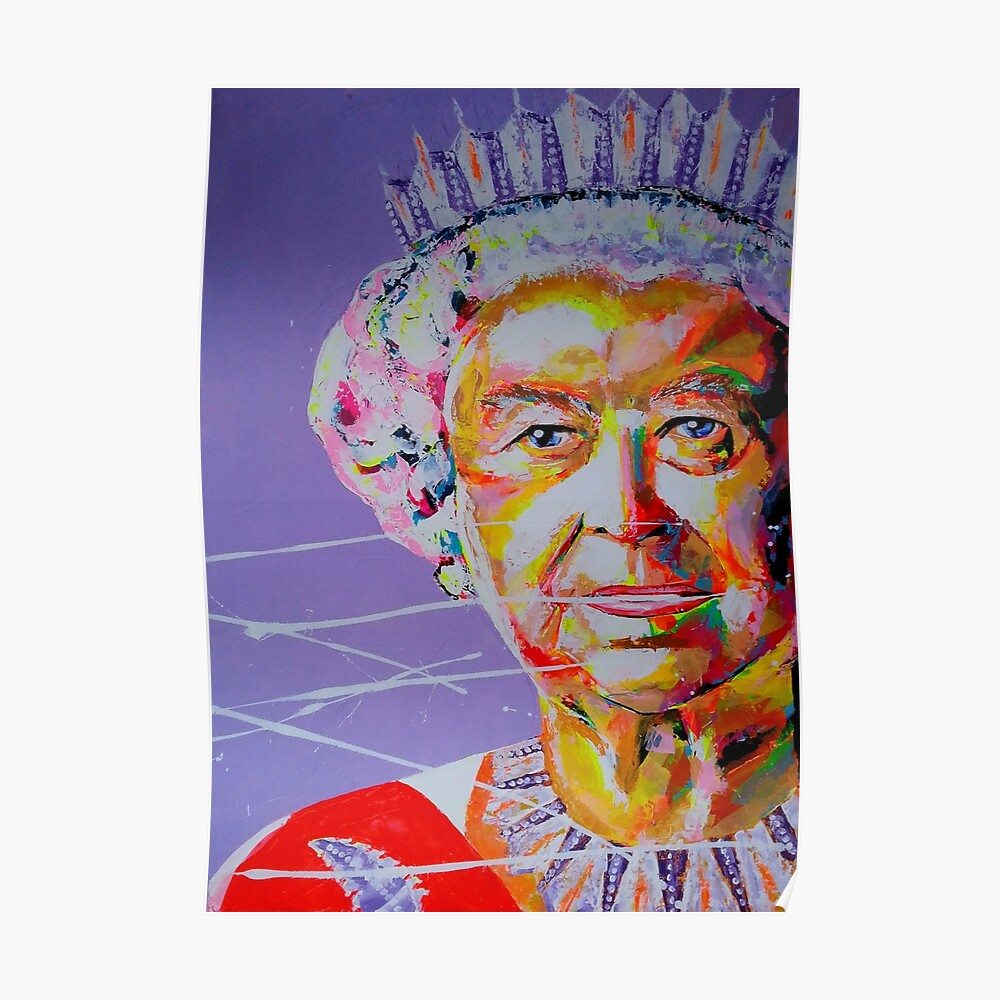 Queen Elizabeth Ii Queen Of England Elizabeth Ii Artpainting Poster