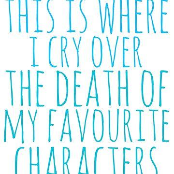 una almohada para llorar por la muerte de los personajes favoritos de FandomizedRose