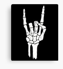 Rock Skeleton Hand Canvas Print