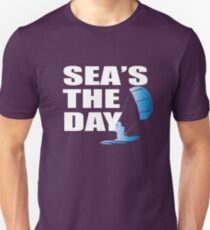 Kitesurfing Funny Design - Sea's The Day T-Shirt