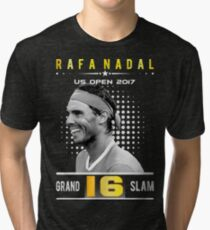 Rafa Nadal 16 Grand Slam Tri-blend T-Shirt