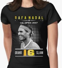 Rafa Nadal 16 Grand Slam Women's Fitted T-Shirt