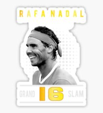 Rafa Nadal 16 Grand Slam Sticker