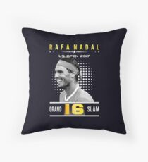 Rafa Nadal 16 Grand Slam Throw Pillow