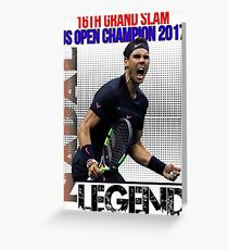 Rafael Nadal The Legend  Greeting Card