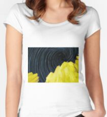 Night long exposure Women's Fitted Scoop T-Shirt