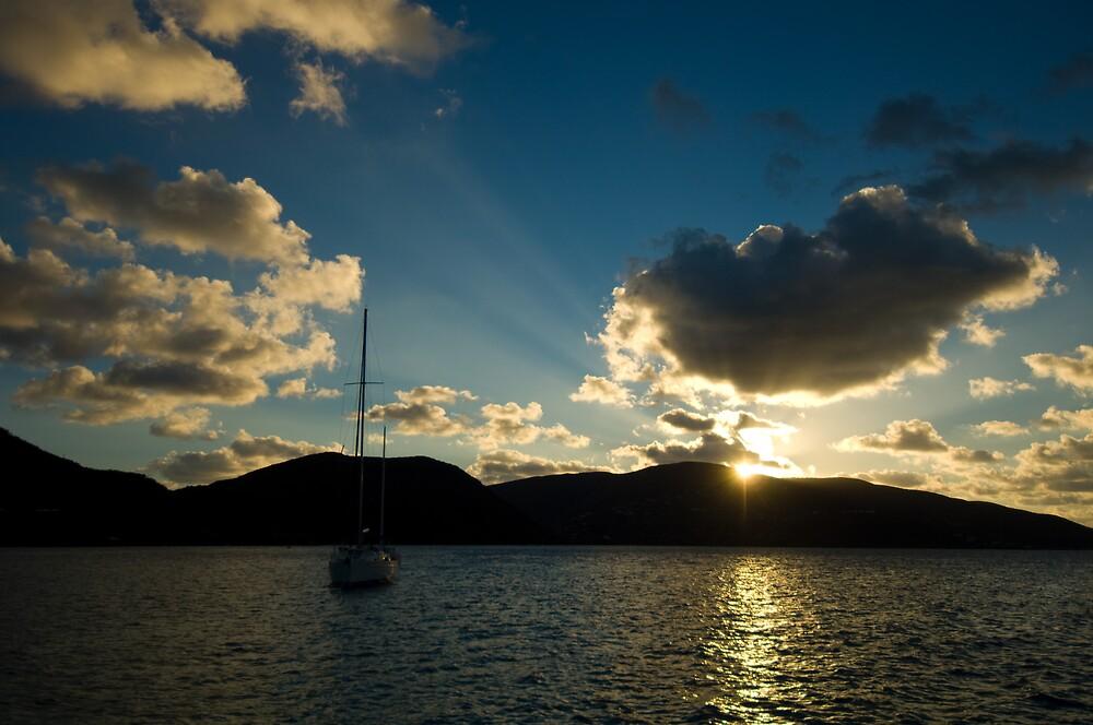 Sailing Sunset by Glenn Barnett