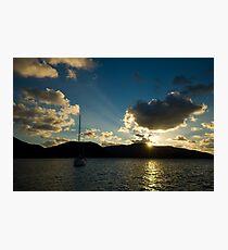 Sailing Sunset Photographic Print