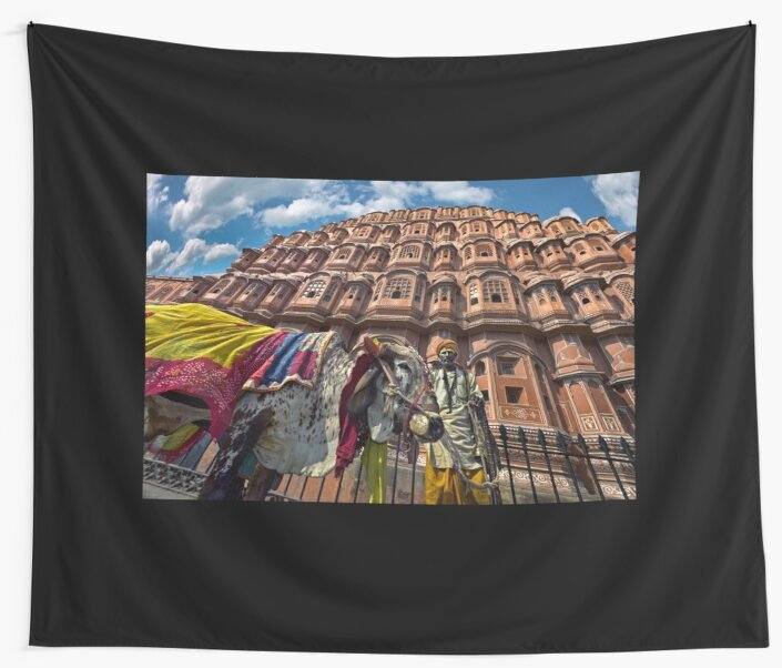 Holy Cow - Wall Tapestry by Glen Allison