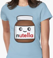 Nutella face 2 Women's Fitted T-Shirt