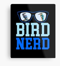 Bird Nerd Metal Print