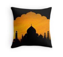 Fluted Arch Taj Mahal - Throw Pillow by Glen Allison